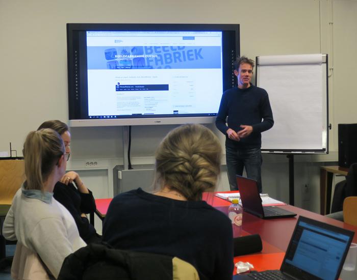 Nils Hilbers (Foto Fred van der Neut) WordPresscursus