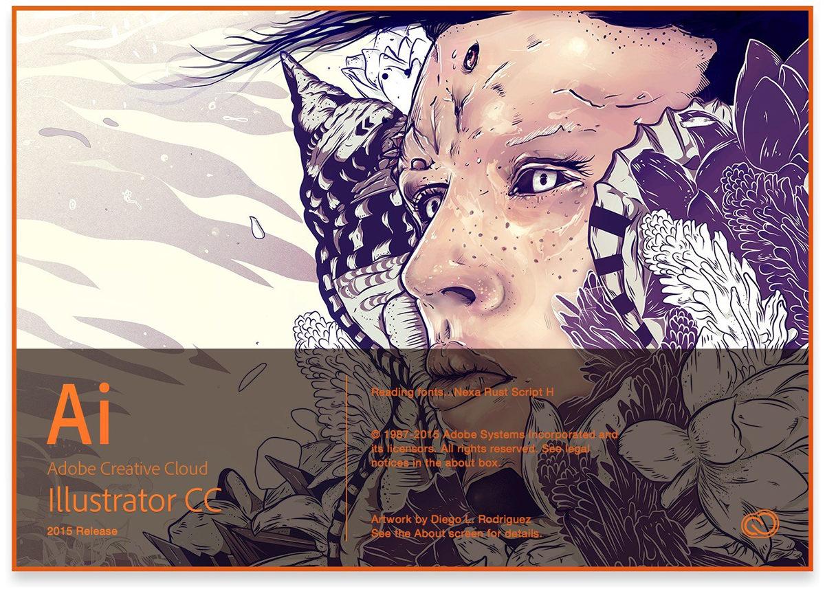 Illustrator startup scherm